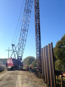 pile driving construction