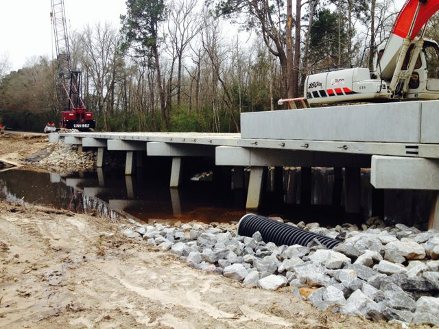 bridge construction in jennings louisiana